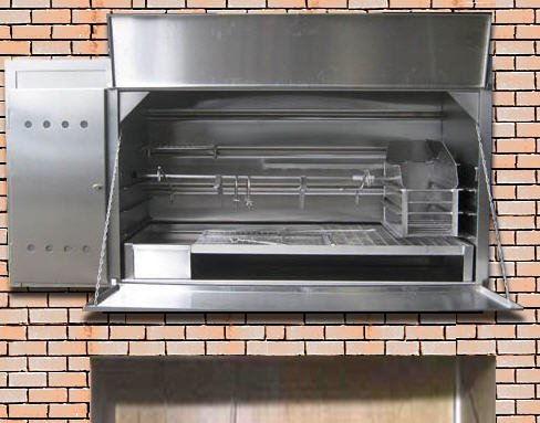 Stainless Steel Braais - Built-in Spit