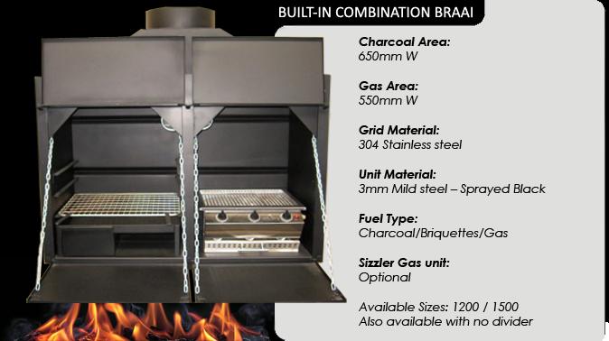 Combination Built in Braais