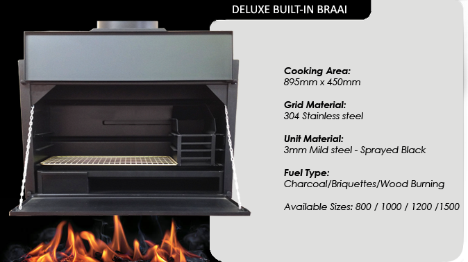 1200 DELUXE BUILT IN BRAAI