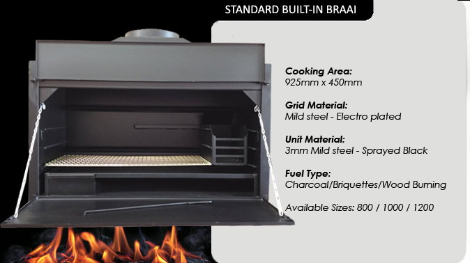 STANDARD BUILT-IN BRAAIS
