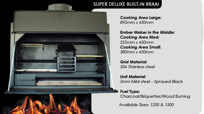 SUPER DELUXE BUILT-IN BRAAIS